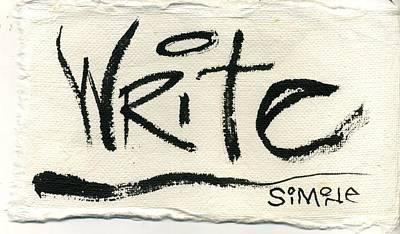 Write Original by Simone Frank