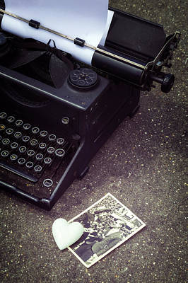 Broken Heart Photograph - Writing A Love Letter by Joana Kruse