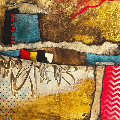 Hand Made Paper Mixed Media - Writings On The Wall  by Laura Lein-Svencner