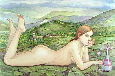 Outdoor Nude Painting - Ws2005dc004ar Gladys Buenos Aires 17.75x12 by Alfredo Da Silva
