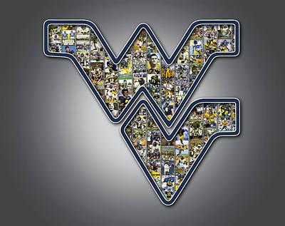 West Virginia University Football Print by Fairchild Art Studio