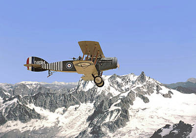 Ww1 - Bristol Fighter Print by Pat Speirs