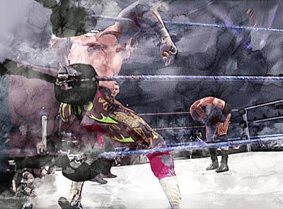 Beverly Hills Drawing - Wwe Wrestling 111 by Jani Heinonen