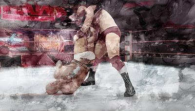 Beverly Hills Drawing - Wwe Wrestling 20 by Jani Heinonen
