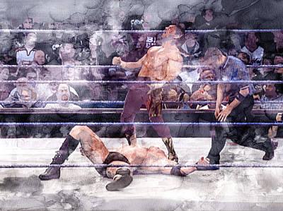 Beverly Hills Drawing - Wwe Wrestling 200 by Jani Heinonen