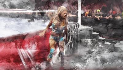Beverly Hills Drawing - Wwe Wrestling 348 by Jani Heinonen