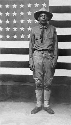 African-american Photograph - Wwi African American Soldier by Underwood Archives