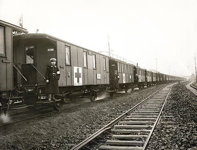 Attendant Photograph - Wwi German Hospital Train by Underwood Archives