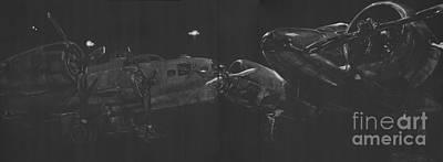 Scratchboard Drawing - World War II Heroes by Matthew Jarrett