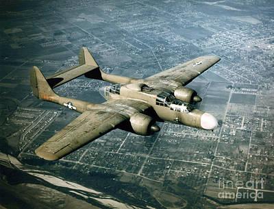 Wwii, Northrop P-61 Black Widow, 1940s Print by Science Source
