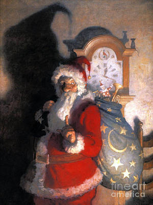 Santa Claus Painting - Wyeth: Old Kris (kringle) by Granger