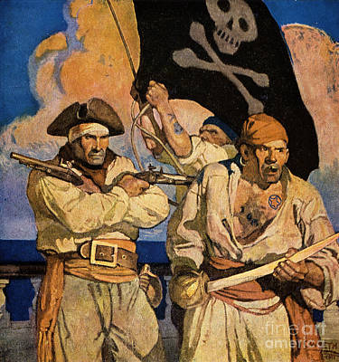 Pirates Photograph - Wyeth: Treasure Island by Granger