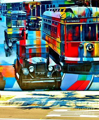 Rene Triay Photograph - Wynwood Trolley by Rene Triay Photography