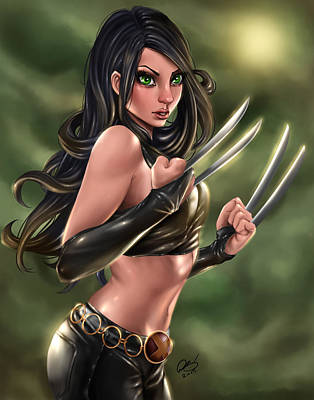 Marvel Drawing - X-23 Razors Edge by Pete Tapang