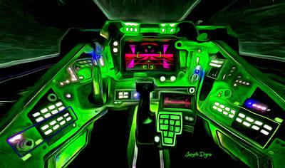 Buttons Digital Art - X-wing Cockpit - Da by Leonardo Digenio
