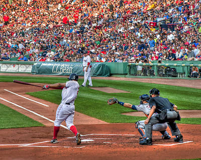 Fenway Park Photograph - Xander Bogaerts - Boston Red Sox by Joann Vitali