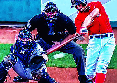 Shortstop Photograph - Xander Bogaerts by Rick Mosher
