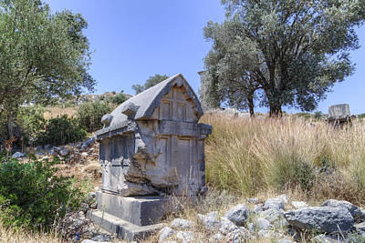 Tomb Photograph - Xanthos - Turkey by Joana Kruse