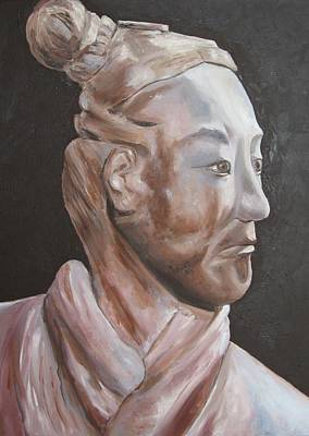 Terra Cotta Soldiers Painting - Xian Warrior China by Lisa Boyd