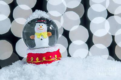 Paperweight Photograph - Xmas Snow Globe by Carlos Caetano