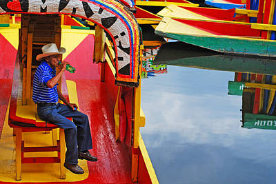 Xochimilco Print by Skip Hunt