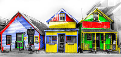 Photograph - Yacht Street Cape May In Technicolor by Bill Cannon