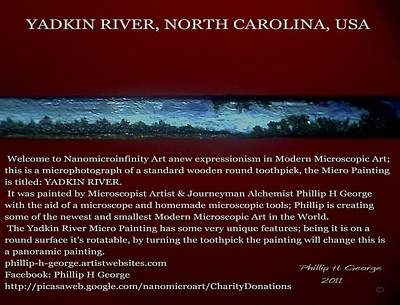 Yadkin River North Carolina Print by Phillip H George