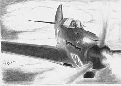 Yak Drawing - Yak 7 by Ian Johnson