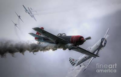Yak Digital Art - Yak Display Team by Nigel Bangert
