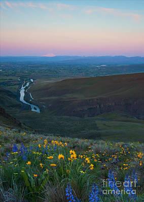 Yakima River Dawn Print by Mike Dawson