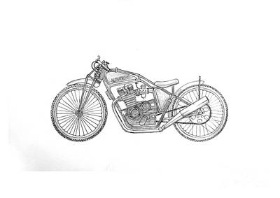 Stainless Steel Frame Drawing - Yamagravel by Stephen Brooks