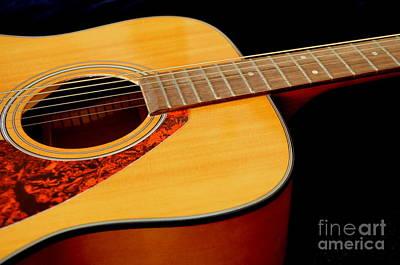 Yamaha Guitar - No 2 Print by Mary Deal