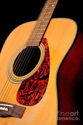 Yamaha Guitar - No 3 Print by Mary Deal