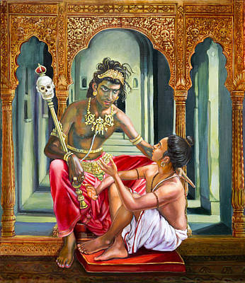 Painting - Yamaraja Answers The Questions Of Nachiketa by Dominique Amendola