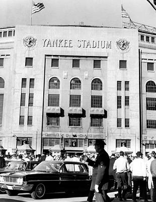 Yankee Stadium Photograph - Yankee Stadium, Fans Arrive To Watch by Everett