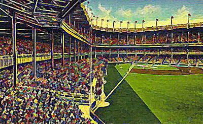 Yankee Stadium Painting - Yankee Stadium From Right Field 1937 by Dwight Goss
