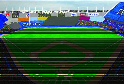 Yankee Stadium Painting - Yankee Stadium by Jeff Caturano