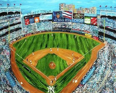 Derek Jeter Painting - Yankee Stadium by Kevin Brown