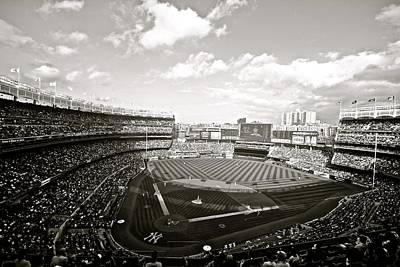 Derek Jeter Photograph - Yankee Stadium Third Bw by Phil Selig