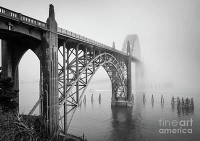 Gothic Bridge Photograph - Yaquina Bay Bridge by Inge Johnsson