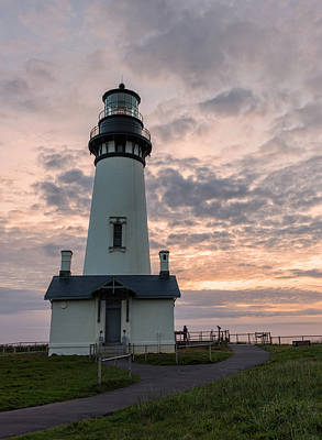 Oregon Photograph - Yaquina Head Light by Loree Johnson