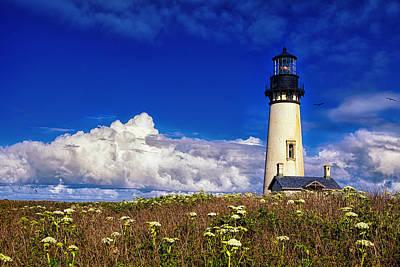 Yaquina Head Lighthouse Photograph - Yaquina Head Lighthouse by Andrew Soundarajan