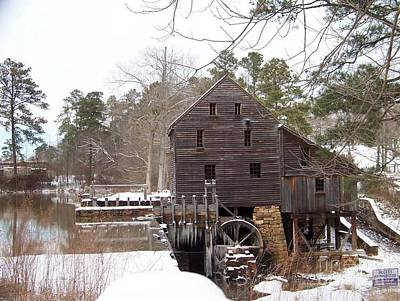 Yates Mill In Winter Print by Kevin Croitz