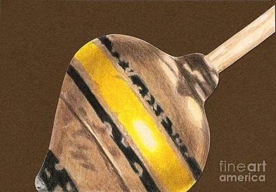 Yellow And Black Top Print by Glenda Zuckerman