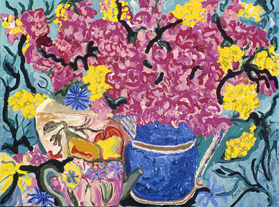 Pitcher With Flowers Painting - Fleur De Vessel by Lorin Zerah