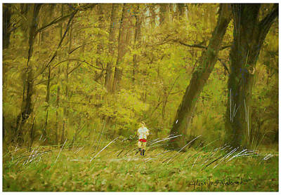 Runner Painting - Yellow Autumn by Alejandro Maldonado