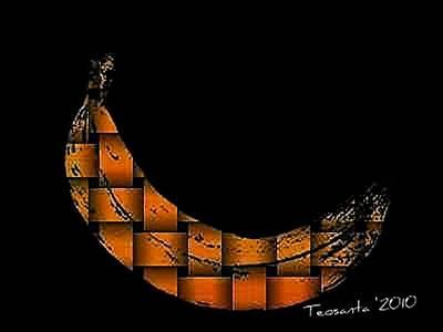 Teosanta Mixed Media - Yellow Banana Weave by Teodoro De La Santa
