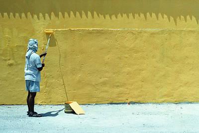 Paint Photograph - Yellow by Bong Manayon