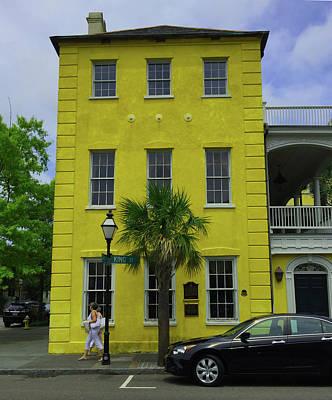 Photograph - Yellow Bricks Charleston Sc by C F  Legette