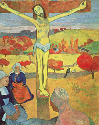 Crucifix Painting - Yellow Christ by Paul Gauguin